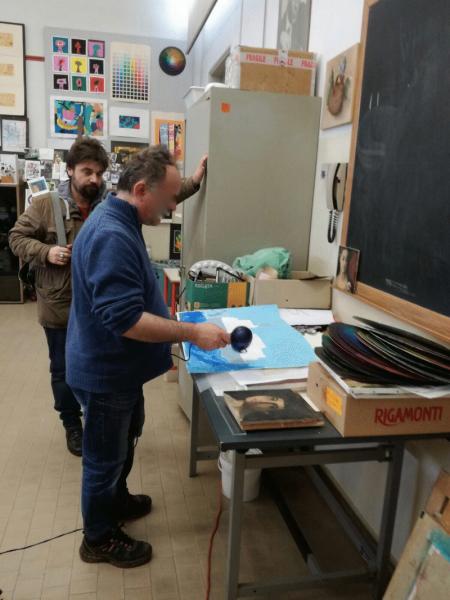 Vallonara nei laboratori del Liceo artistico di Nove
