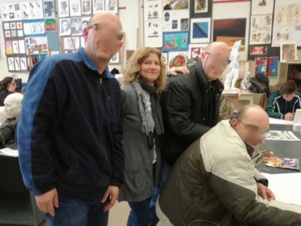 News utenti atelier Vallonara nei laboratori del Liceo artistico di Nove
